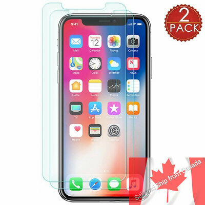 2Pcs Tempered Glass Screen Protector For Apple Iphone X