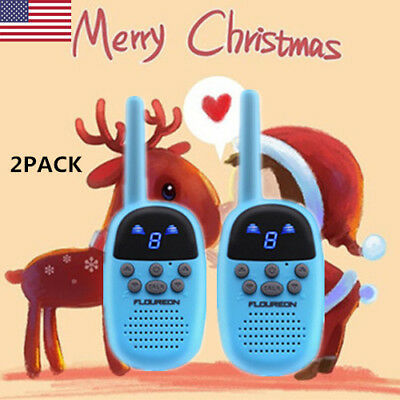 2xWalkie Talkies 9Channel FRS/GMRS 462-467MHZ Two Way Radio Handheld Interphone