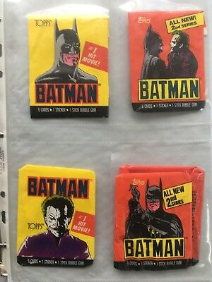 1989 Topps Set Batman Movie Trading Cards Series 1 & 2