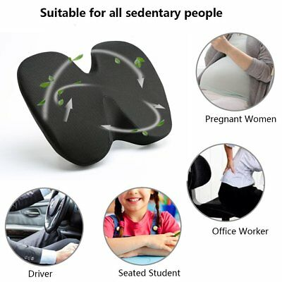 Memory Foam Coccyx Orthoped Seat Cushion Back Support Lumbar Pain Relief Pad US