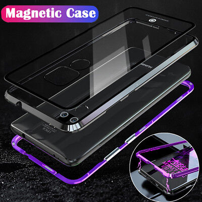 Magnetic Adsorption Metal Case Glass Back Cover For Huawei Mate 20 Pro Lite 20 X