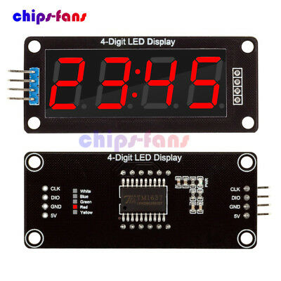 0.56'' Inch TM1637 4Bit Digital LED 7 Segment Clock Tube Display For Arduino Red