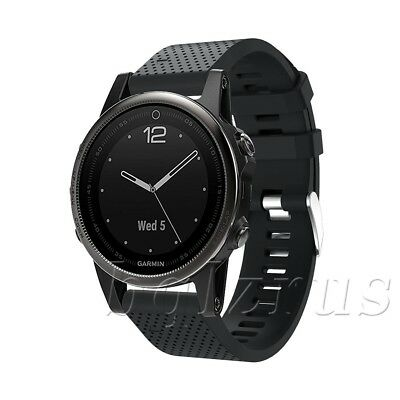20mm Width Silicone Quick Install Band Easy Fit Wrist Strap For Garmin Fenix 5