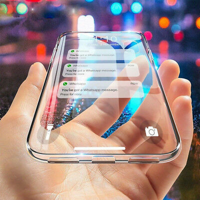 For iPhone XR XS Max X 8 Plus Clear Transparent Shockproof TPU Bumper Case Cover