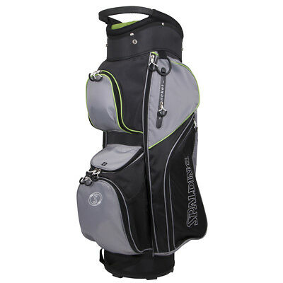 Spalding Elite Cart Bag - Black/Grey/Green