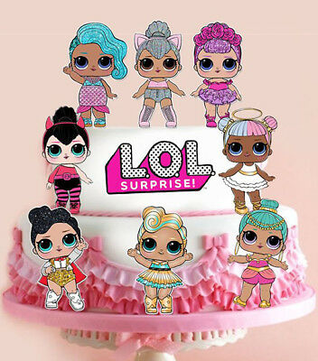 8 Xl Lol Dolls & Logo Stand Up Edible Cupcake Cup Cake Toppers Decoration Images