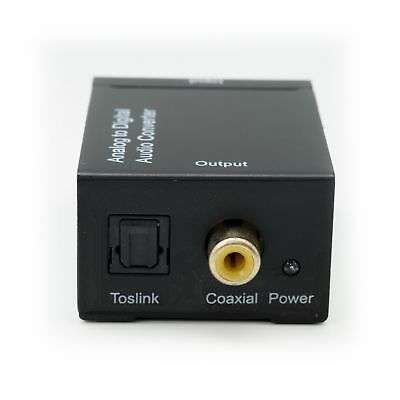 Analog RCA L/R Audio Converter Adapter to Digital Optical Coaxial Toslink