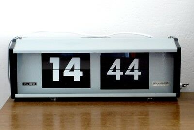 DIGITAL Wall Clock PRAGOTRON - Factory clock, Railway, School - vintage/retro