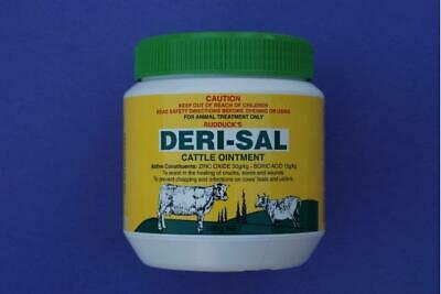 Rudducks Derisal Cattle Ointment for Cuts Abrasions Infection Cows 500g (D6930)