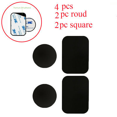 4pcs Metal Plates Adhesive Sticker Replace For Magnetic Car Mount Phone Holder