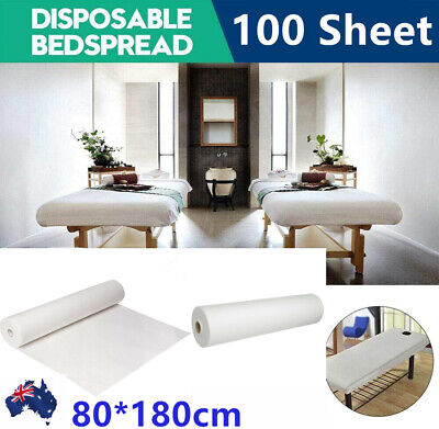 100 Sheets Disposable Massage Bed Cover Beauty Couch Table Hygiene Roll 180*80cm