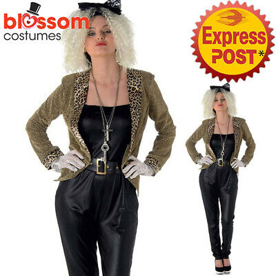 21a87b827284 K680 Pop Diva 80s Wild Child Diva Madonna Suit Fancy Dress Rock Costume  Outfit