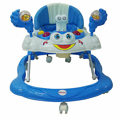 UK Baby Walker For Boys Push Along Bouncer Activity Music Ride On Car Melody