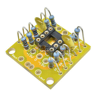Dual OP Amp Preamp DC Amplification Board PCB for NE5532/OPA2134/OPA2604/AD826