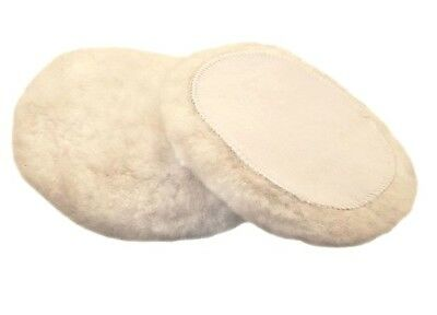 "1 x 150mm (6"") x 30mm Quality Pure Wool / Sheepskin Polishing Pad, Velcro Backed"