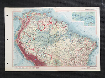 Map Of South America North 1967 Large