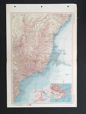 Map Of Brazil 1967 Large
