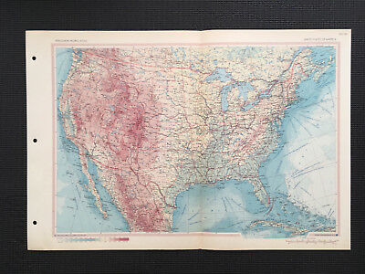 Map Of United States Of America 1967 Large