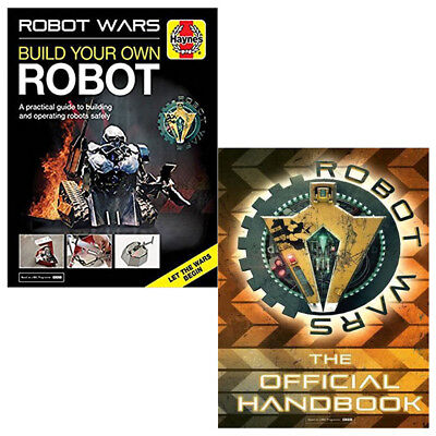 Robot Wars and RW Handbook 2 Books Collection Set Build Your Own Robot Manual