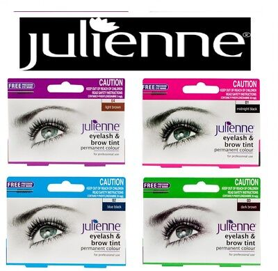 Julienne Permanent Tint for Eyelash Eyebrow With Free Eye Wand