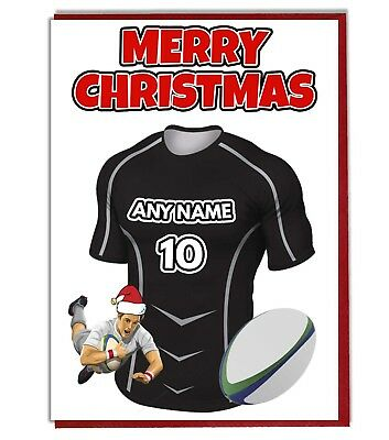 A5 Personalised Glasgow Warriors  Greeting Birthday Card Rugby PID545