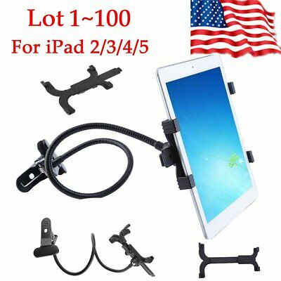 Lot 100 Flexible Long Arm Lazy Stand Clip Holder For iPad Tablet Desktop Beds H