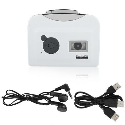 Tape to PC USB Cassette-to-MP3 Converter Capture Audio Portable Music Player New