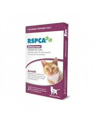 Rspca Allwormer Cats Intestinal Treatment Tablets 2's (RS002)