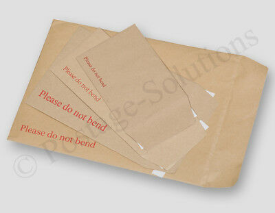 Please Do Not Bend Hard Card Board Backed Manila Envelope Brown A3 /a4 /a5 /a6