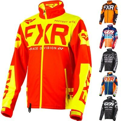 FXR Racing F19 Cold Cross Race Ready Mens Snowmobile Coats Shell Skiing Jackets