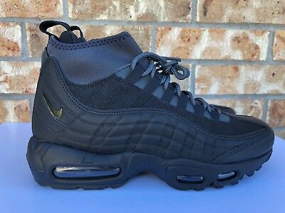 5f6d14513df9 Men s Nike Air Max 95 Sneakerboots Triple Black Anthracite Size 7-9 806809 -001