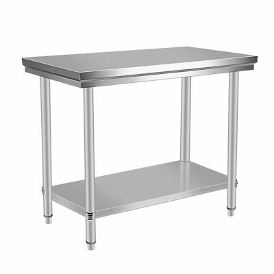 "24"" x 48"" Stainless Steel Kitchen Work Table Commercial Restaurant Table XV"