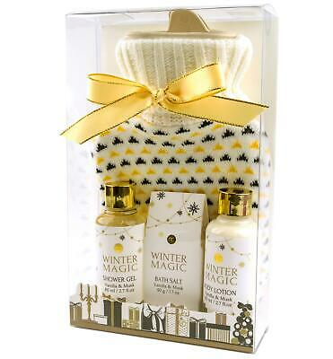 Wellness Set WINTER MAGIC  Duschgel Badesalz Bodylotion Wärmflasche Vanilla Musk