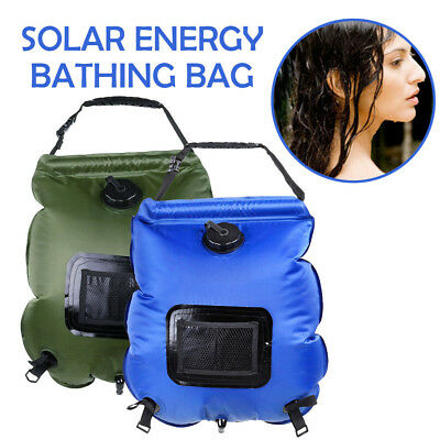 20L Portable PVC Heated Shower Solar Energy Outdoor Camping Bathing Water Bag