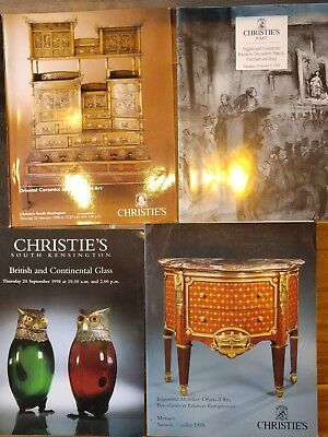 Lot 12 Vtg Christie's Auction Catalogs Furniture sculpture porcelain art antique