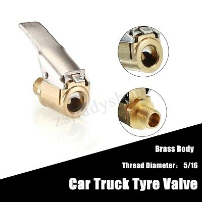 Car Truck Brass Air Pump Chuck Tyre Valve 8mm Clip Tire Inflator Valve Connector