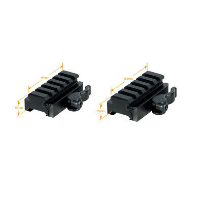"2PCS 5-Slot Quick Release Detach QR QD 1/2"" Riser Mount for Picatinny Rail New"