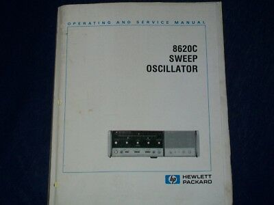 HP Hewlett Packard Agilent 8620C Operating and service manual with schematics