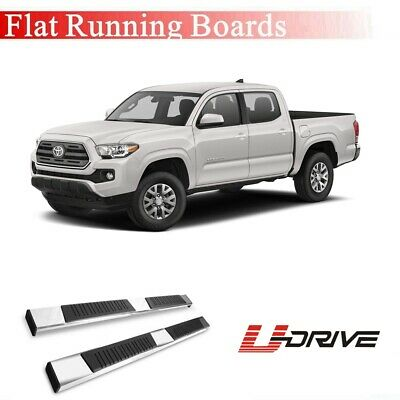 """3"""" S/S Round Running Boards Side Steps For 2005-2018 Toyota Tacoma Double Cab"""