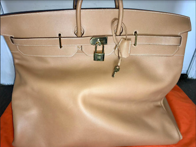 993f215edf53 HERMES 60CM MOST WANTED HAC natural nude luxury luggage bag travel birkin  RARE!