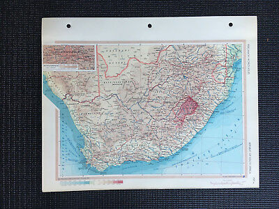 Map Of Republic Of South Africa Cape Town 1967
