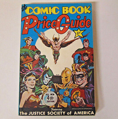 1974 Overstreet Comic Book Price Guide #4 VF Justice Society of America