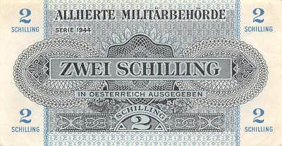 Austria  2 /-  1944  P 104  WWII Issue   Circulated Banknote L22