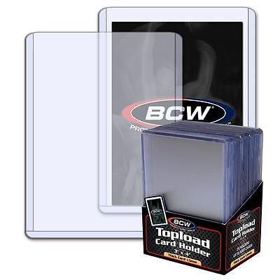 125 3x4 BCW 1.5 mm 59 pt. Topload holders -Sport/Trading/Gaming Cards Toploaders