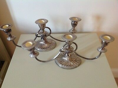 Pair Of Silver Plated Candelabras By falstaff