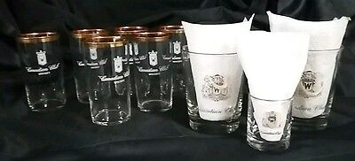 CANADIAN CLUB Whiskey glassware 6 Hi-Ball 2 Rock 1 Shot glass Bar Collectibles