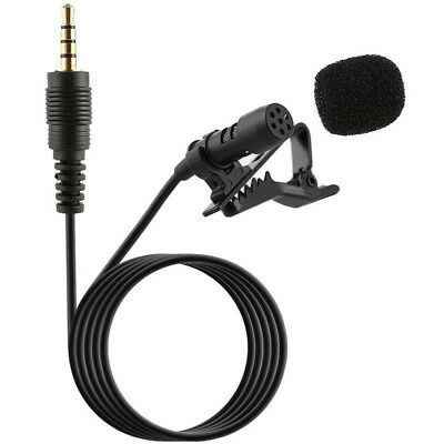 3.5mm Clip-on Lapel Microphone Hands Free Wired Condenser Mini Lavalier Mic US