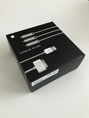 New Old Stock Genuine Apple Composite AV Cable Lead Apple iPhone 2G 3G 3GS 4 4S