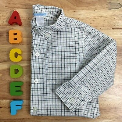 LAST CHANCE: Janie and Jack Boys' Plaid Button-Down Shirt, Size 18-24 months