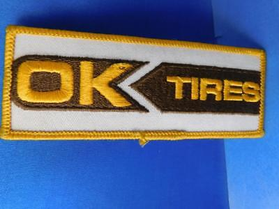 Ok Tires Patch Vintage Car Truck Shop Racing Advertising Jacket Hat Badge